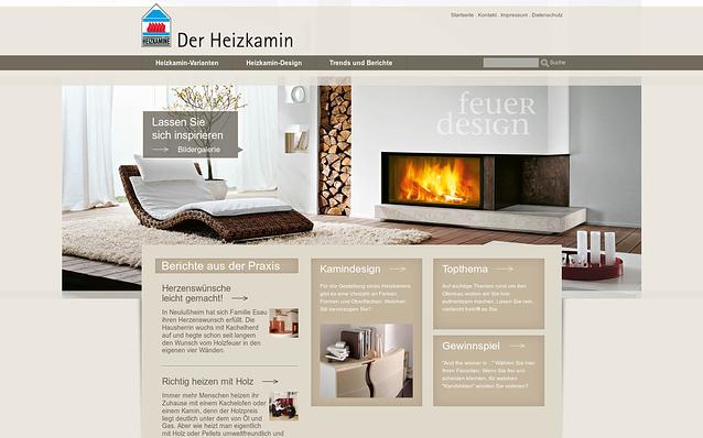 Screenshot: Startseite, heizkamin.de