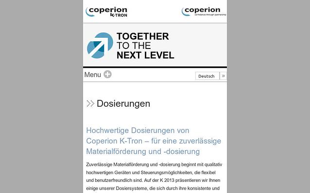 Screenshot: Mobilversion, Microsite für Veranstaltung