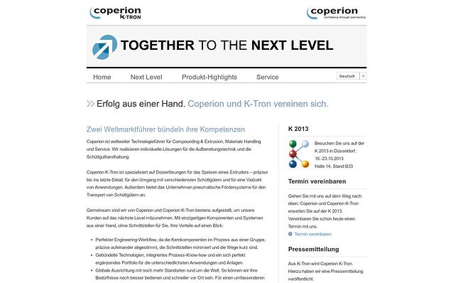 Screenshot: Startseite, Microsite für Veranstaltung