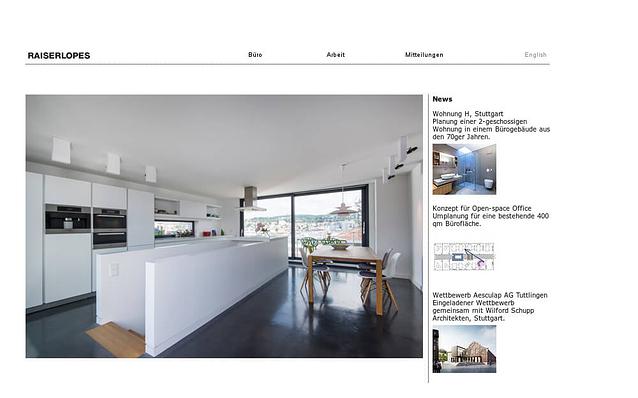 Screenshot: Startseite, RAISERLOPES