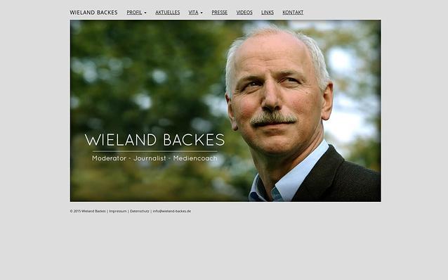 Screenshot: Startseite, wielandbackes.de