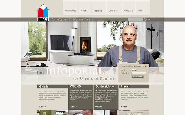 Screenshot: Startseite, HAGOS
