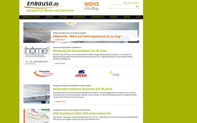 Screenshot: Startseite Portal, enbausa.de
