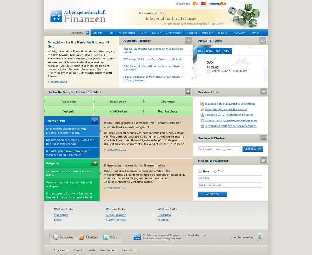 Referenzprojekt: Arbeitsgemeinschaft Finanzen