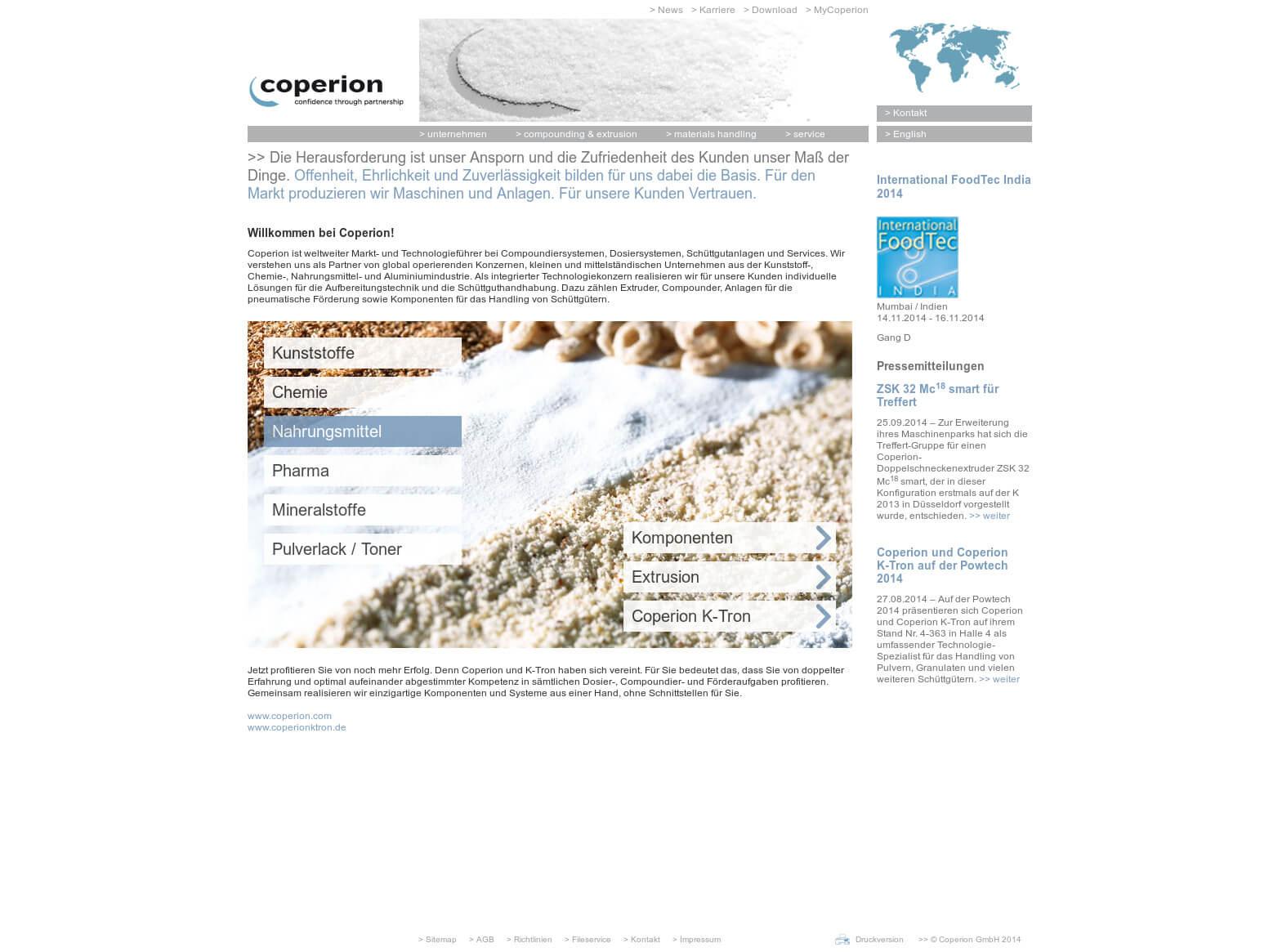 Referenzprojekt: Coperion